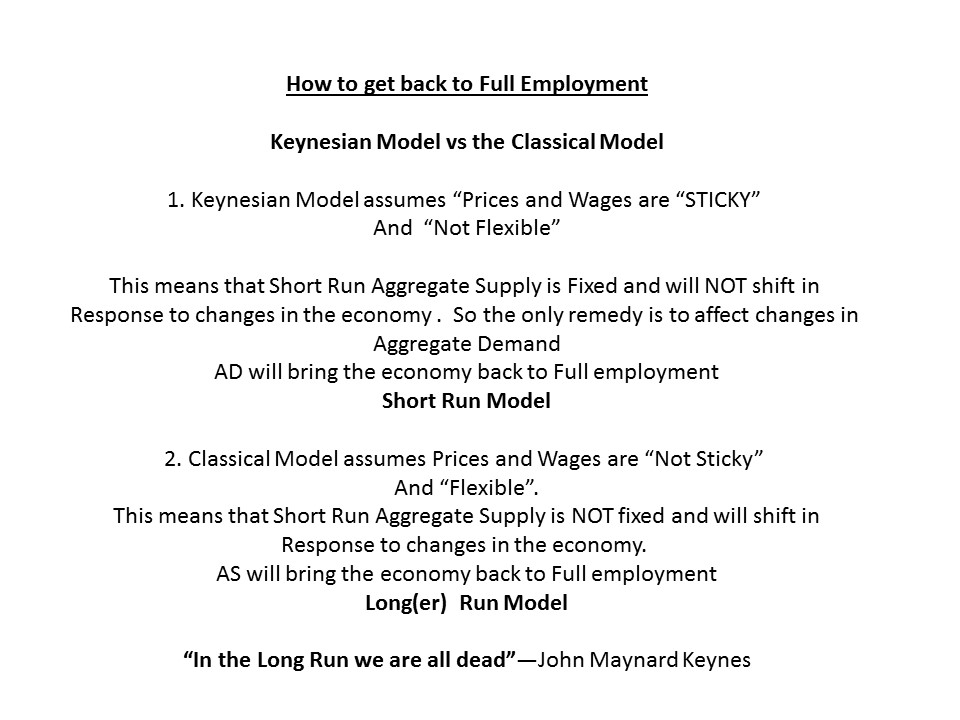 a comparison between keynesian economics and the classical economic approach A very good video comparing classical and keynesian economics.