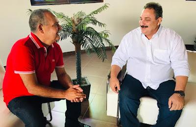 Governador em exercício, Eriberto Medeiros se reúne com ex-prefeito Everaldo Dias