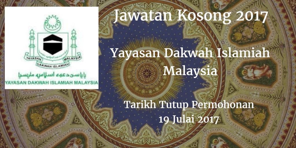 Jawatan Kosong YADIM 19 Julai 2017