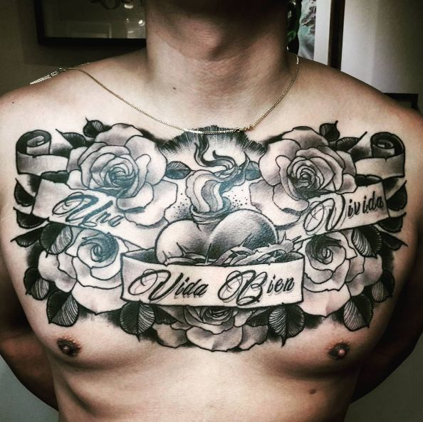 Top 51 best chest tattoos for men 2017 tattoosboygirl for Cover up chest tattoos
