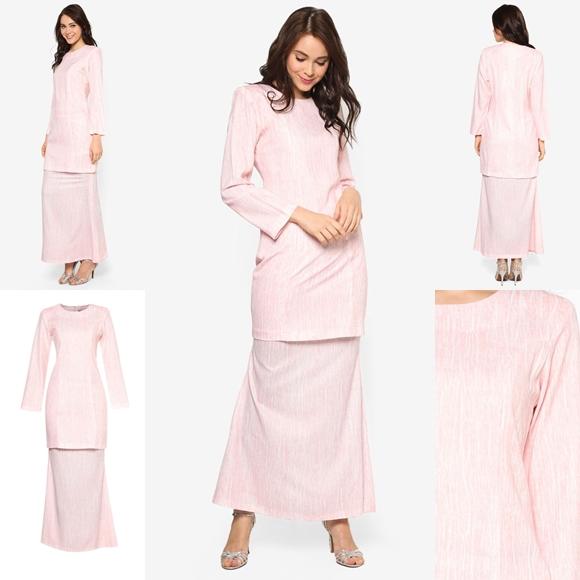 Fesyen Trend Terkini November 2016 Baju Kurung Moden Yazmein Pink By Butik Sireh Pinang