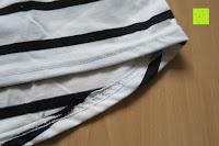 unten: Yidarton Damen Rundhals Gestreift Stretch Basic T-Shirt Oberteile Langarmshirt Loose Bluse Tops