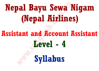 Nepal BayuSewa Nigam Assistant and Account Assistant Syllabus Nepal Airlines