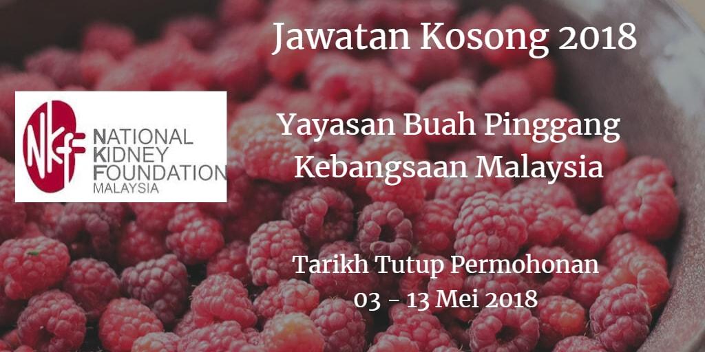 Jawatan Kosong NKF 03 - 13 Mei 2018