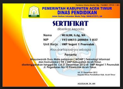 gambar sertifikat MGMP