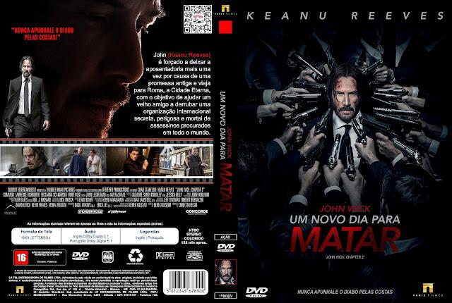 Capa DVD John Wick Um Novo Dia Para Matar [Custom]