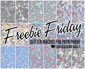 Chalkboard Nails: Free glitter macros for your phone wallpaper