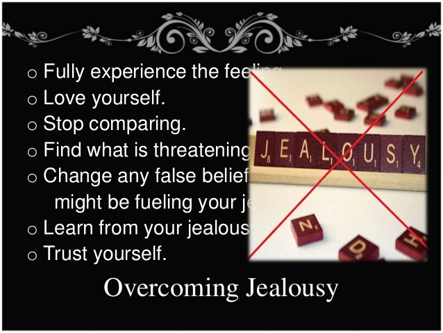 How to control feelings of jealousy