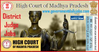 Madhya Pradesh High Court Recruitment 2019 of 55 District Judge Posts