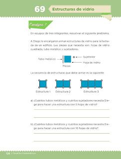 Apoyo Primaria Desafíos Matemáticos 4to. Grado Bloque IV Lección 69 Estructuras de vidrio