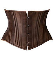 steampunk brown bronze short torso waist cincher belt waspie