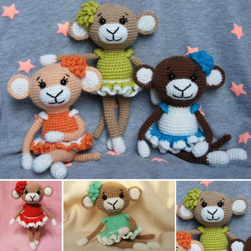 Glamorous Monkey Amigurumi - Free Pattern