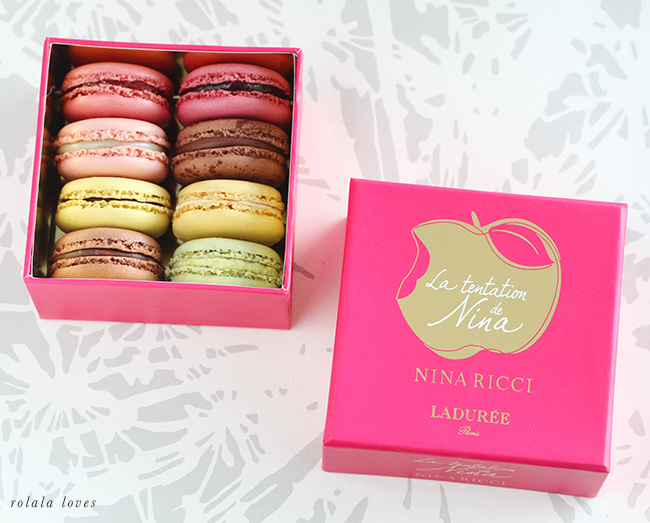 Laduree  Macaron Box, Nina Ricci La tentation de Nina