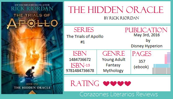 #BookReview: The Hidden Oracle by Rick Riordan