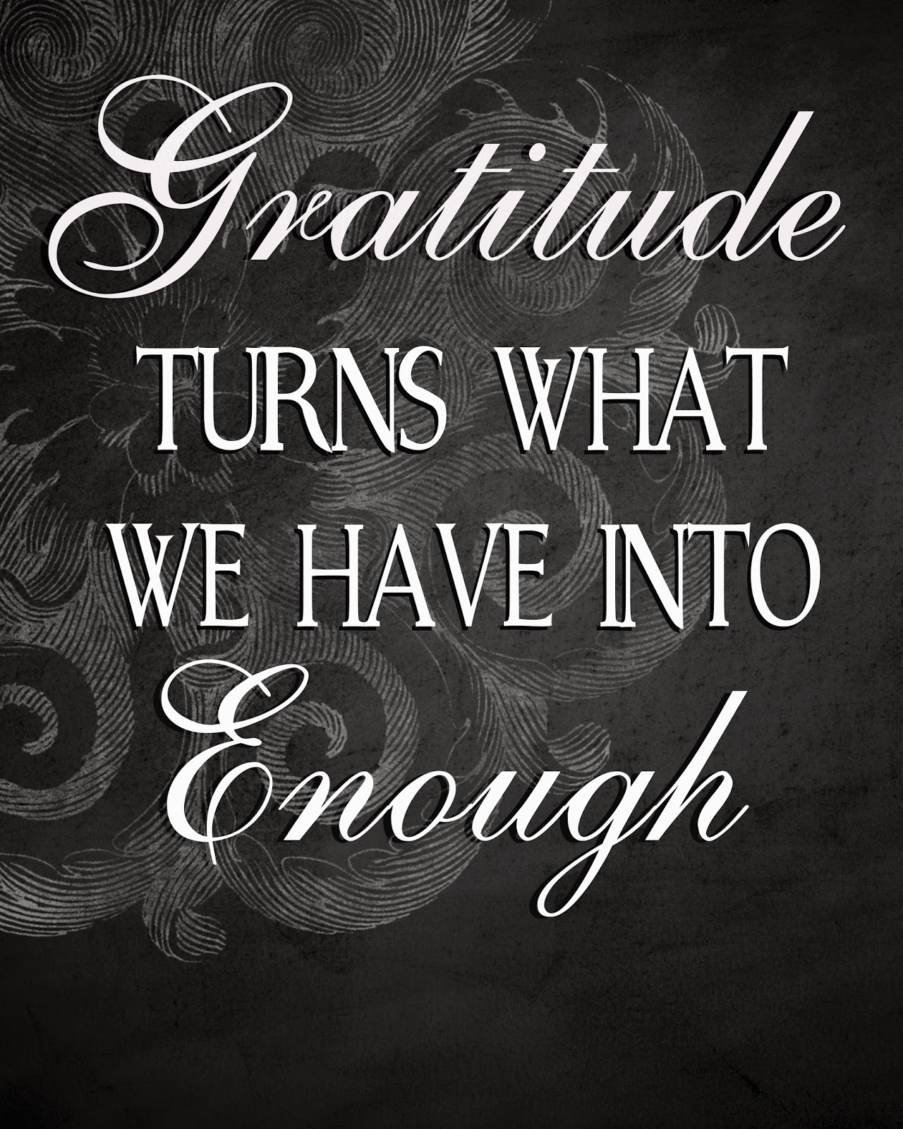 hope you had a great thanksgiving gratitude turns what we have into enough its easy to let the excitement of the christmas holiday keep us busy