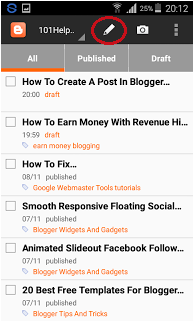 how to write post in blogger