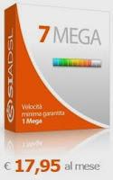 Offerta ADSL di SiPortal: piano web SiAdsl 7 Mega