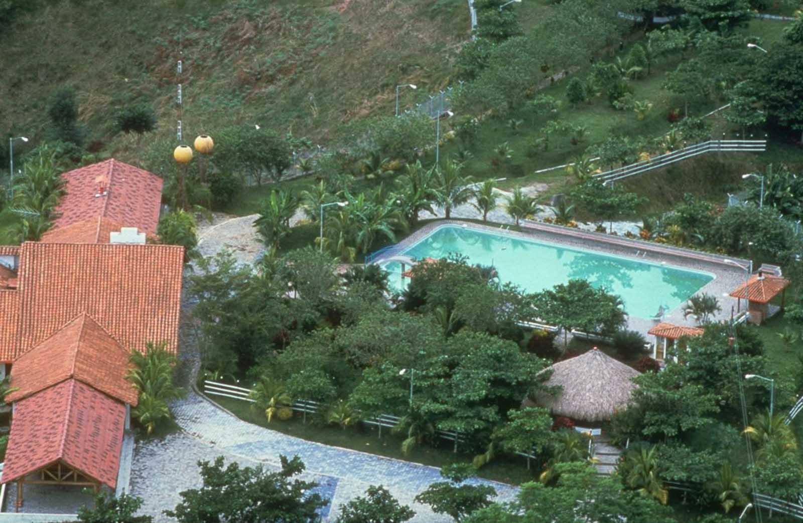 Una vista aérea de la hacienda Nápoles.