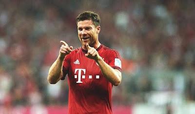 Bayern Munich midfielder Xabi Alonso