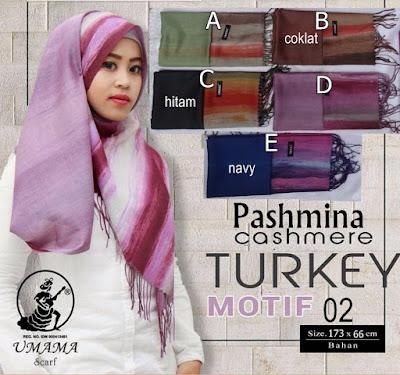 Model Jilbab Terbaru Pashmina Cashmere Turkey