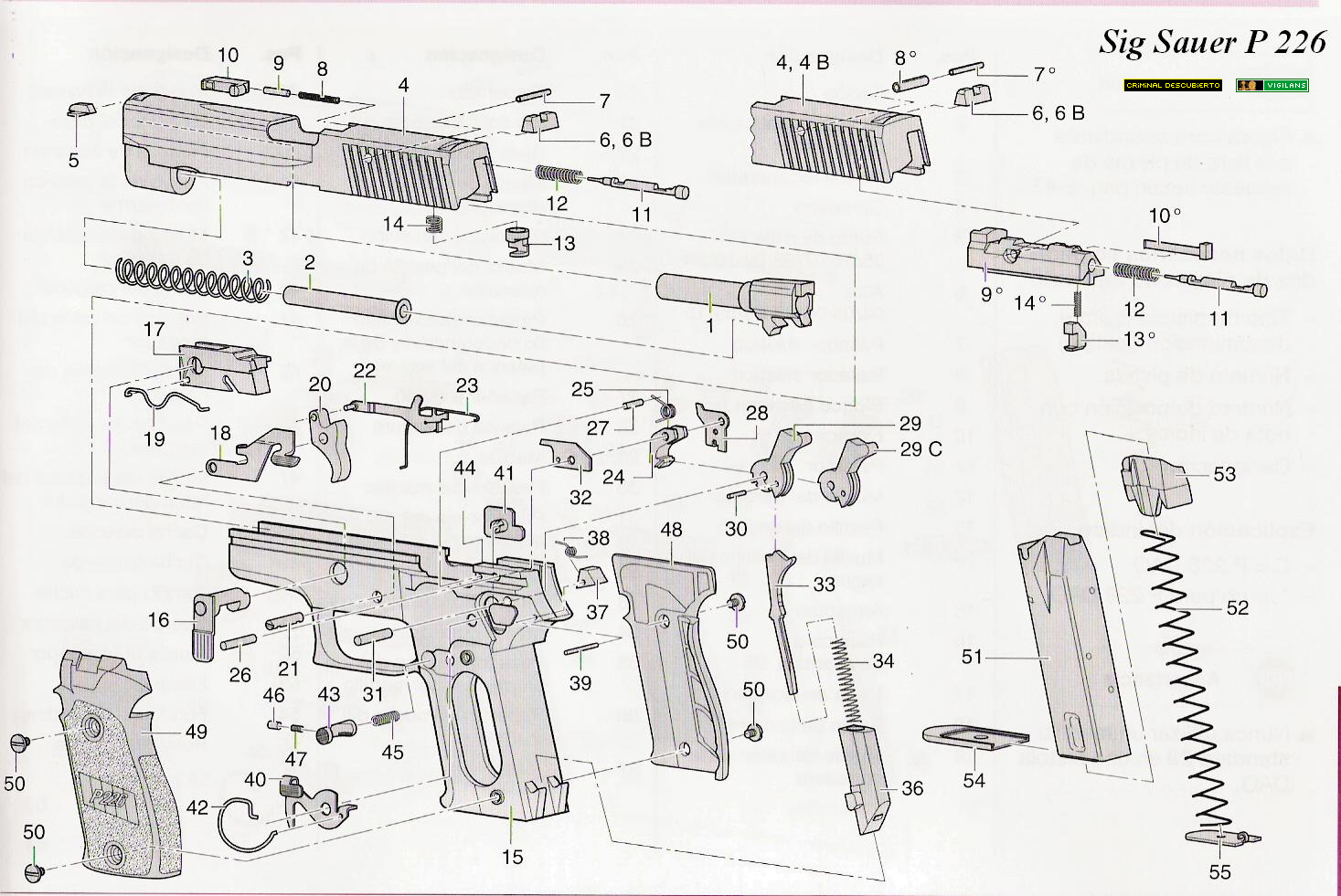 Pistola Sig Sauer P226 Y P226 X Five