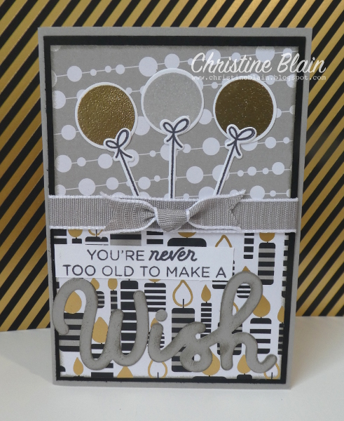 Happy Heart Cards Stampin Up Broadway Birthday Masculine Card