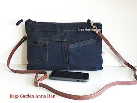 Bags Garden by Anna-Han : Jean Patchwork Handbag