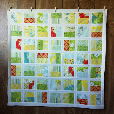 """DIY: Half-Square Quilt"" a Free Row of the Month (or Row) Quilt Pattern designed by Kersten from Frozen Knickers"
