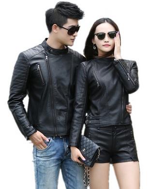 Model Jaket Kulit Pasangan Warna Hitam