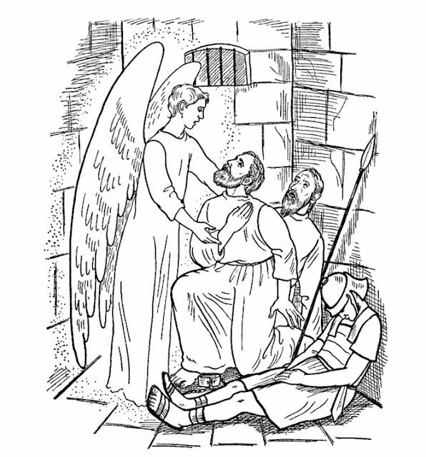 un ange permet à Pierre de s'évader