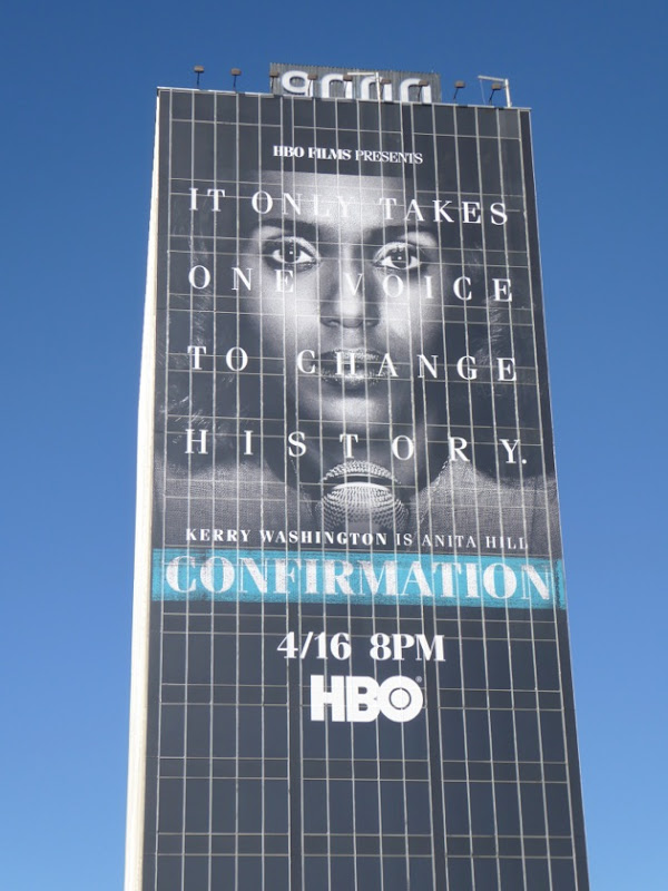 Giant Kerry Washington Confirmation billboard