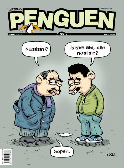 Penguen Dergisi - 24 Mart 2016 Kapak Karikatürü