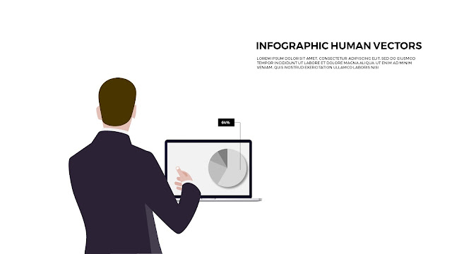 Free Powerpoint templates with Infographic Human Vectors Slide1