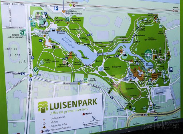 Parkplan Luisenpark Mannheim