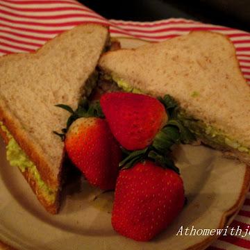 Avocado and Egg Salad Sandwich