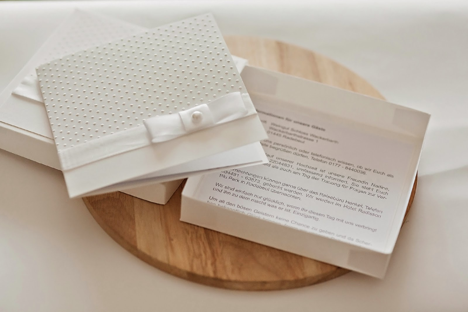 Invitation Box And Extra Informations Card