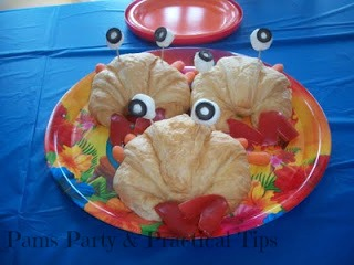 Crabby Chicken Sandwiches for Beach Party