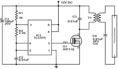 Rangkaian Lampu darurat (IC NE555) ~ Hobi Elektronika