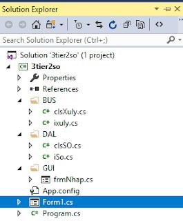 [Lập trình Windows] Giải bài toán tính tổng 2 số theo mô hình 3 lớp.
