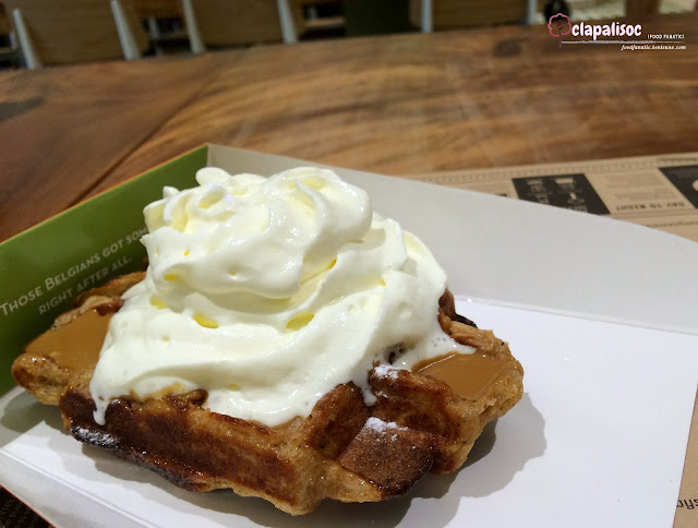 Speculoos and Whipped Cream Waffle from Toby's Estate