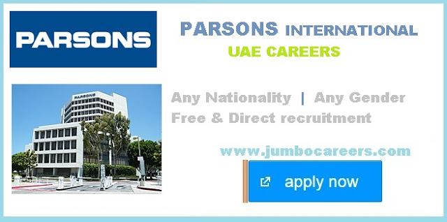 Accountant jobs at Parsons International UAE.