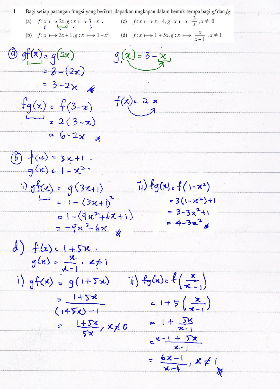 Cikgu Azman Bukit Jalil Jawapan Latihan Buku Teks Matematik Tambahan Tingkatan 4