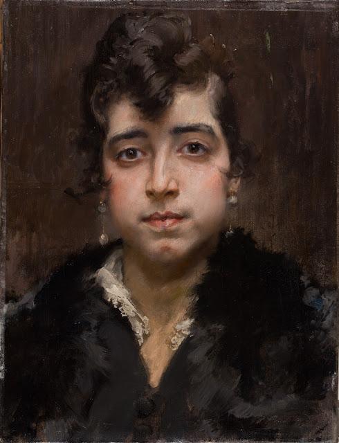 Francisco Pradilla. Retrato de mujer joven. 1917. óleo lienzo. Museo de Zaragoza. Foto. José Garrido