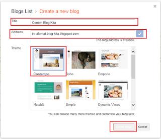 membuat blog dari blogspot