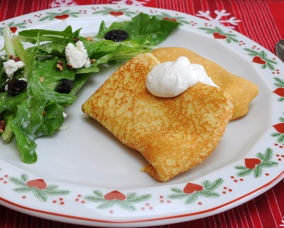 My family's old recipe for Potato Blintzes, pillows of soft and creamy mashed potatoes wrapped in crepes.