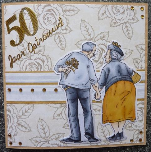 kaart 50 jaar getrouwd Brenda's kaarten: 50 jaar getrouwd kaart 50 jaar getrouwd