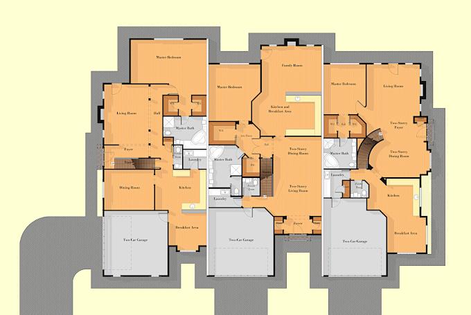 Marketing Floor Plan Drawings