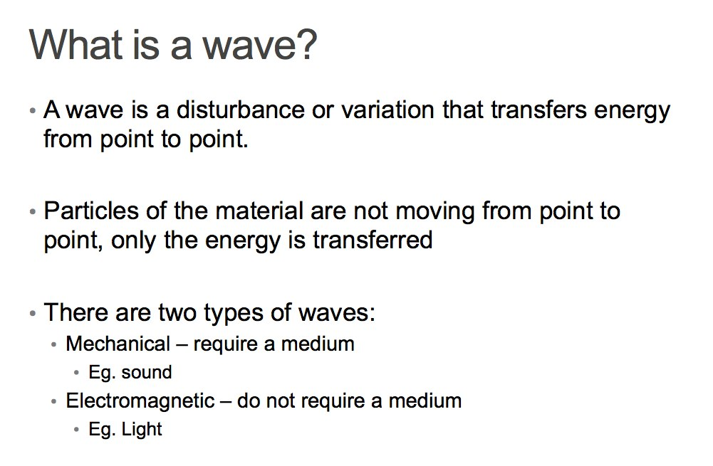 Feb  11 Class: Introduction to waves | Physics 11