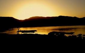 منظر غروب الشمس في السودان