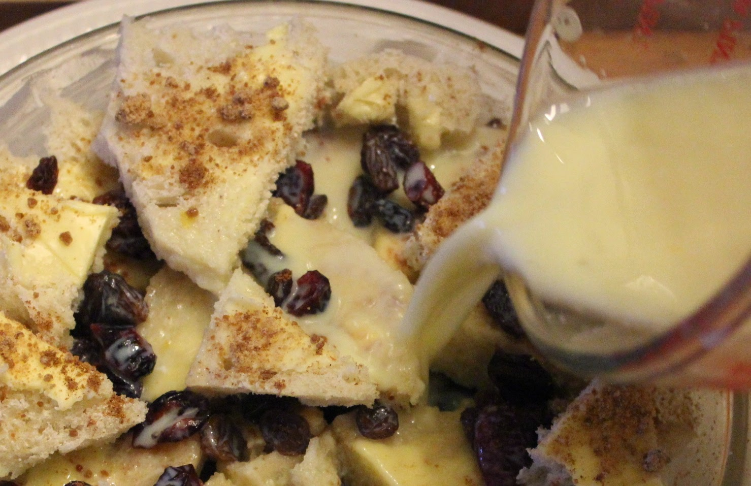 organic bread and butter pudding recipe - work in progress